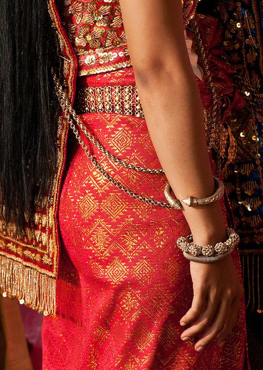 Apsara Dancer 02 - Costume detail of an Apsara dancer, Siem Reap Cambodia