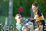 Dr Crokes Kieran O'Leary tackles Ballinacourty during their Munster Championship quarter final clash in Dungarvan on Sunday