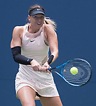 Maria Sharapova plays at the US Open