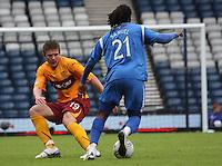Collin Samuel sends Shaun Hutchinson the wrong way