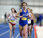 BROOKINGS, SD - FEBRUARY 25:  Rachel King from South Dakota State University finishes first in the women's 5,000 meter run at the 2017 Summit League Indoor Track and Field Championship Saturday afternoon in Brookings, SD. (Photo by Dave Eggen/Inertia)