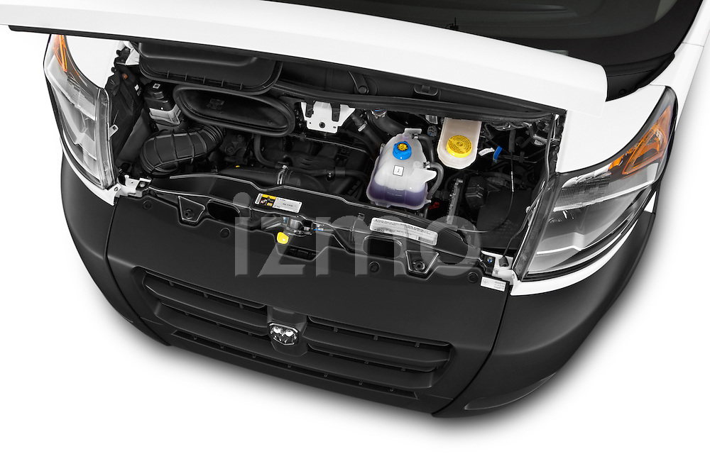 Car stock 2015 Ram Promater 1500 118 Wb  4 Door Cargo Van engine high angle detail view