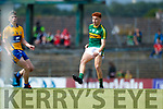 Niall Donohue Kerry in action against  Clare in the Munster Minor Football Final at Fitzgerald Stadium on Sunday.
