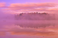 Horseshoe Lake in autumn, Near Parry Sound, Ontario, Canada