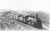 #472 with westbound Shavano - 2 baggage cars, RPO and 2 coaches.<br /> D&amp;RGW  Marshall Pass, CO