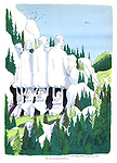 The back of Mount Rushmore