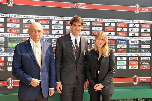 05.09.2013 Milan, Italy. Kaka is Presentated to the media with Adriano Galliani at AC Milan having signed on a two-year-deal.