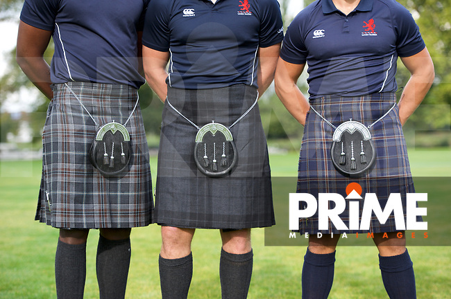 London Scottish promotional images for MacGregor and MacDuff sponsor's photo shoot at the Lensbury, Teddington, England  on 18 September 2017. Photo by Alan  Stanford/PRiME Media Images.
