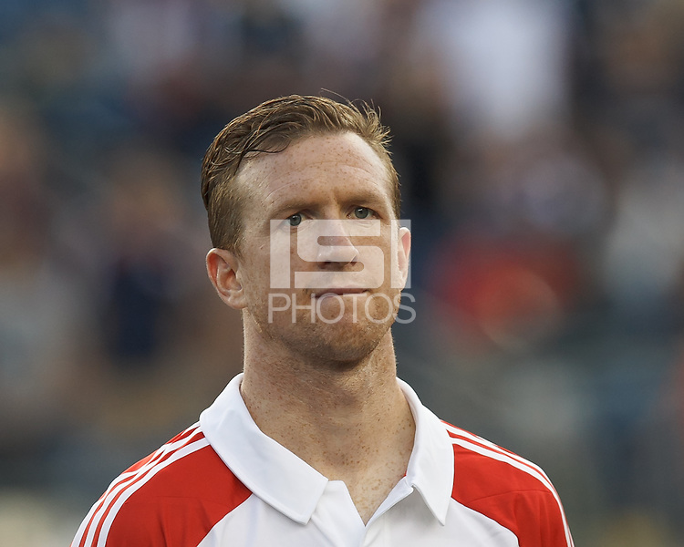 Toronto FC defender Steven Caldwell (13). In a Major League Soccer (MLS) match, Toronto FC (white/red) defeated the New England Revolution (blue), 1-0, at Gillette Stadium on August 4, 2013.