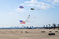 Flying a Kite on the Beach in Seal Beach California
