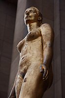 """PARIS, FRANCE -  APRIL 27 : A detail of """"Le Matin"""" on April 27, 2008 at the Palais de Chaillot in the 16th arrondissement of Paris, France. The gilded bronze sculpture of a standing woman, an allegory of morning, adorns the facade of the Art Deco Palais de Chaillot, built in 1937 for the International Exhibition since the inauguration of the building. Jean Paris, known as Pryas, 1891-1985, was commissioned to make the work, which is seen here on a spring afternoon. (Photo by Manuel Cohen)"""