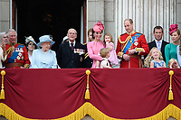 Prince Charles, Prince of Wales; Princess Beatrice; HM Queen Elizabeth II &amp; Prince Philip, Duke of Edinburgh; Catherine, Duchess of Cambridge; Princess Charlotte; Prince George &amp; Prince William, Duke of Cambridge &amp; members of the royal family on the balcony of Buckingham Palace following the Trooping of the Colour Ceremony celebrating the Queen's official birthday. London, UK. <br /> 17 June  2017<br /> Picture: Steve Vas/Featureflash/SilverHub 0208 004 5359 sales@silverhubmedia.com