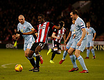 Clayton Donaldson of Sheffield Utd  and John O'Shea of Sunderland during the Championship match at Bramall Lane Stadium, Sheffield. Picture date 26th December 2017. Picture credit should read: Simon Bellis/Sportimage