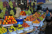 Displaying o Fruits and Vegetables at the market