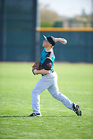Nicholas Hoekstra (15) of Roosevelt High School in Sioux Falls, South Dakota during the Under Armour All-American Pre-Season Tournament presented by Baseball Factory on January 14, 2017 at Sloan Park in Mesa, Arizona.  (Mike Janes/MJP/Four Seam Images)