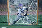 Sarah Zeto (23) of the High Point Panthers warms up prior to the game against the Furman Purple Paladins at Vert Track, Soccer & Lacrosse Stadium on February 10, 2018 in High Point, North Carolina.  The Panthers defeated the Purple Paladins 17-6.  (Brian Westerholt/Sports On Film)