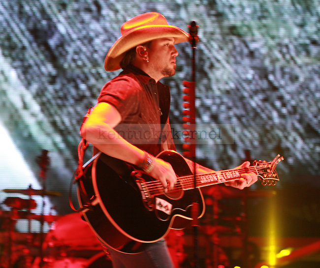 "Jason Aldean performs in Rupp Arena as a part of the ""My Kinda Party"" tour on Friday night, March 4, 2011. Photo by Scott Hannigan 