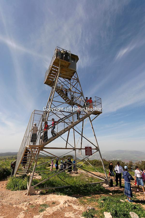 Israel, Mount Gilboa. Mount Barkan lookout