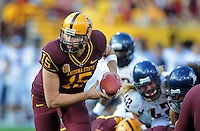Nov. 28, 2009; Tempe, AZ, USA; Arizona State Sun Devils quarterback (15) Danny Sullivan against the Arizona Wildcats at Sun Devil Stadium. Arizona defeated Arizona State 20-17. Mandatory Credit: Mark J. Rebilas-