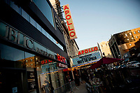 "NEW YORK, NEW YORK - APRIL 24: Outside of The Apollo Theater during 2019 Tribeca Film Festival opening night World premiere of the HBO documentary film ""The Apollo"" on April 24, 2019 in New York. (Photo by Pablo Monsalve/VIEWpress/Corbis via Getty Images)"