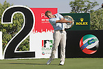 Joost Luiten teeing off on the second.on day one of the Dubai World Championship on the Earth Course at the Jumeirah Golf Estate, Dubai..Picture Fran Caffrey/www.golffile.ie.