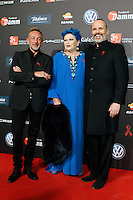 Singer Rafa Sanchez;  Mahala Alzamora, actress Lucia Bose and singer Miguel Bose during Barcelona 5th AIDS Ceremony. November 24,2014.(ALTERPHOTOS/Acero) /NortePhoto<br />