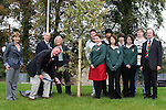 Robert Berney with Richard and Carmel  Schmidt, teachers, pupils and past pupils at the tree planting ceremony as Drogheda Grammar School celebrate 340 years of education...Photo NEWSFILE/Jenny Matthews.(Photo credit should read Jenny Matthews/NEWSFILE)....This Picture has been sent you under the condtions enclosed by:.Newsfile Ltd..The Studio,.Millmount Abbey,.Drogheda,.Co Meath..Ireland..Tel: +353(0)41-9871240.Fax: +353(0)41-9871260.GSM: +353(0)86-2500958.email: pictures@newsfile.ie.www.newsfile.ie.FTP: 193.120.102.198.