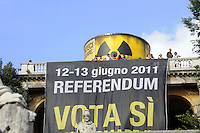 Roma, 10 Giugno 2011.Piazza del Popolo.Io Voto! In piazza per la fine della campagna referendaria su nucleare, acqua pubblica e legittimo impedimento