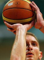 Nick Horvath shoots a penalty during the NBL Semifinal basketball match between the Wellington Saints and Nelson Giants at TSB Bank Arena, Wellington, New Zealand on Thursday, 12 June 2008. Photo: Dave Lintott / lintottphoto.co.nz