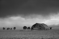 Abandoned Barn in a Colorado Dust Storm