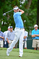 Ian Poulter (GBR) watches his tee shot on 5 during Friday's round 2 of the PGA Championship at the Quail Hollow Club in Charlotte, North Carolina. 8/11/2017.<br /> Picture: Golffile | Ken Murray<br /> <br /> <br /> All photo usage must carry mandatory copyright credit (&copy; Golffile | Ken Murray)