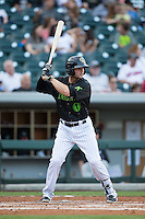 Andy Parrino (12) of the Charlotte Knights at bat against the Columbus Clippers at BB&T BallPark on May 3, 2016 in Charlotte, North Carolina.  The Clippers defeated the Knights 8-3.  (Brian Westerholt/Four Seam Images)