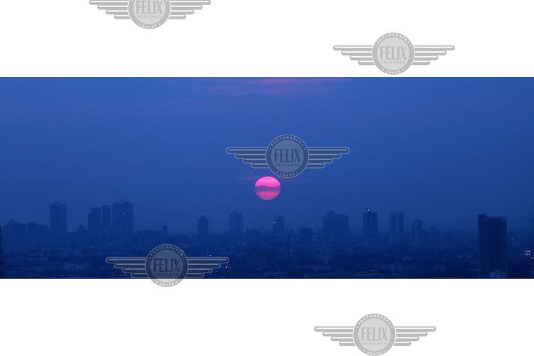 Sunset over Manila..