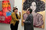 SANTA MONICA - JUN 25: Spencer Harvey, Andrew Weiss at the David Bromley LA Women Art Exhibition opening reception at the Andrew Weiss Gallery on June 25, 2016 in Santa Monica, California
