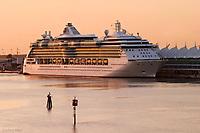 Cruiseship docked at Port of Miami,<br /> Miami, Florida