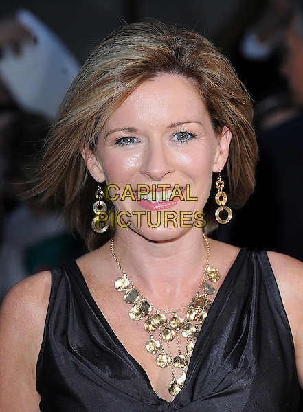 ANDREA CATHERWOOD .Attending The 2008 Pride of Britain Awards, Television Centre, London..England, UK, 30th September 2008..portrait headshot gold necklace earrings .CAP/BEL.©Tom Belcher/Capital Pictures