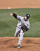 Baltimore, MD - April 6, 2009 -- New York Yankees pitcher Brian Bruney (38) pitches in the 8th inning against the Baltimore Orioles at Oriole Park at Camden Yards in Baltimore, MD on Monday, April 6, 2009..Credit: Ron Sachs / CNP.(RESTRICTION: NO New York or New Jersey Newspapers or newspapers within a 75 mile radius of New York City)
