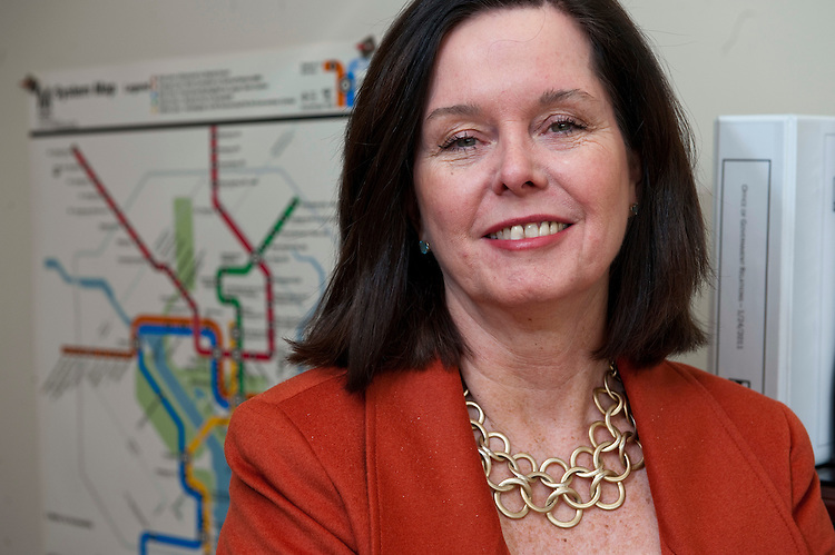 WASHINGTON, DC- Feb. 17: Regina A. Sullivan, director of Government Relations at the Washington Metropolitan Area Transit Authority (WMATA). Previously she was director of Congressional Affairs at the U.S. Department of Transportation during the Clinton Administration. She has also served as vice president of Congressional Affairs for the Air Transport Association, and as senior public policy advisor at Baker, Worthington, the law firm of former Senate Majority Leader Howard Baker. (Photo by Scott J. Ferrell/Congressional Quarterly)