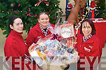 Staff from Murphys Supervalu in  Kenmare Shopping centre getting ready for the food Fair, from left: Margaret Lyne, Marie O'Rourke and Michelle McGrath.