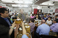 China, Hong Kong S.A.R..Dim Sum at Lin Heung Tea House, a traditional dim sum restaurant.