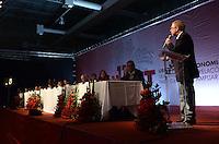 SAO PAULO, 09 DE JULHO DE 2012 -  HADDAD CONCUT - Marco Maia, presidente da Câmara em cerimonia de abertura do 11º Congresso Nacional da Central Única dos Trabalhadores (CONCUT), no expo transamerica, regiao sul da capital na noite desta segunda feira. FOTO: ALEXANDRE MOREIRA - BRZIL PHOTO PRESS