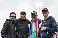 Fans were in good spirits despite the inclement conditions during South Africa vs West Indies, ICC World Cup Cricket at the Hampshire Bowl on 10th June 2019