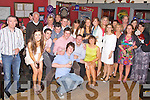 Double celebrations in the Fertha Bar, Cahersiveen, as Caoimhe Young & Kevin Kelly both celebrated their 21st birthdays on Saturday night pictured her seated front centre with family and friends.