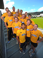 The 2012-13 Firebirds squad. Wellington Firebirds headshots at Hawkins Basin Reserve, Wellington, New Zealand on Tuesday, 2 October 2012. Photo: Dave Lintott / lintottphoto.co.nz