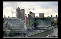 City Hall London (Taken from Tower Bridge walkway) designed by Norman Foster and opened in July 2002 - 14th June 2005