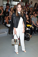 Rosie Fortescue<br /> at the Eudon Choi catwalk show as part of London Fashion Week SS17, Brewer Street Car Park, Soho London<br /> <br /> <br /> &copy;Ash Knotek  D3155  16/09/2016