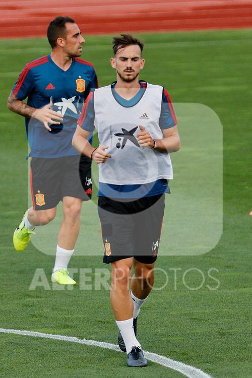 Fabian during the Trainee Session at Ciudad del Futbol in Las Rozas, Spain. September 02, 2019. (ALTERPHOTOS/A. Perez Meca)
