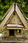 Clementine's Bed and Breakfast. Old wooden Birdhouse.
