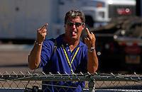 Steve Swope waves good morning..Phoenix International Raceway.©F. Peirce Williams 2003                               ..F. Peirce Williams .photography.P.O.Box 455 Eaton, OH 45320.p: 317.358.7326  e: fpwp@mac.com
