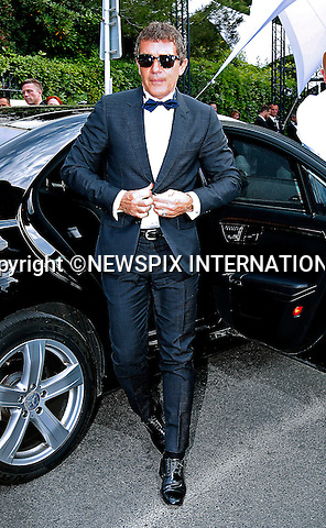 12.05.2015, Antibes; France: ANTONIO BANDERAS<br /> attends the Cinema Against AIDS amfAR Gala 2015 held at the Hotel du Cap, Eden Roc in Cap d'Antibes.<br /> MANDATORY PHOTO CREDIT: &copy;Thibault Daliphard/NEWSPIX INTERNATIONAL<br /> <br /> (Failure to credit will incur a surcharge of 100% of reproduction fees)<br /> <br /> **ALL FEES PAYABLE TO: &quot;NEWSPIX  INTERNATIONAL&quot;**<br /> <br /> Newspix International, 31 Chinnery Hill, Bishop's Stortford, ENGLAND CM23 3PS<br /> Tel:+441279 324672<br /> Fax: +441279656877<br /> Mobile:  07775681153<br /> e-mail: info@newspixinternational.co.uk
